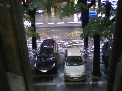Nubifragio 20/10/2011: dalla finestra del mio ufficio all'Eur