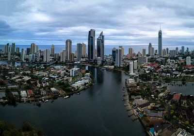 Aerial view Surfers Paradise