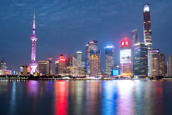 Skyline of Shanghai during Twilight