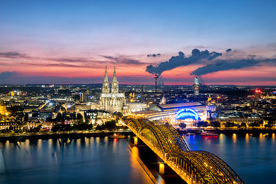 Sunset view over Cologne