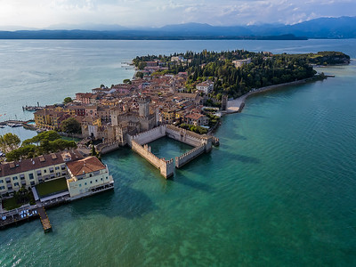 Aerial view Sirmione