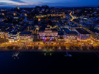 Aerial view Schweizerhof Lucerne