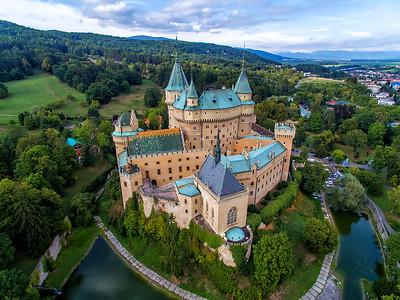 Aerial view Bojnice Castle