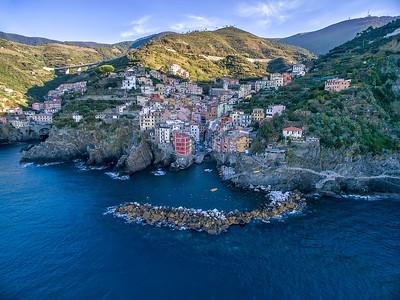 Aerial view Riomaggiore