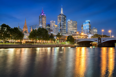 Melbourne Skyline at Twilight