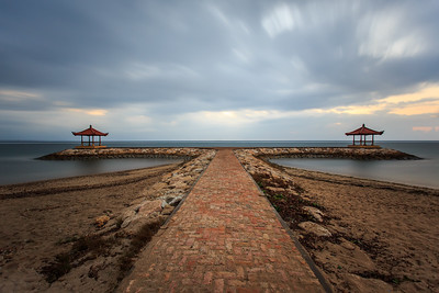 silent morning in Sanur