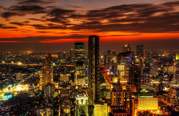 Sunset over Bangkok