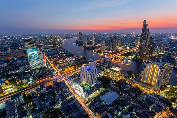 Amazing Sunet over Bangkok