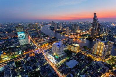 Amazing Sunet over Bangkok