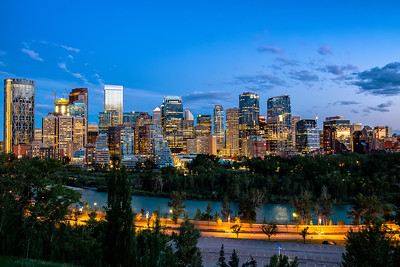 Calgary during Blue Hour