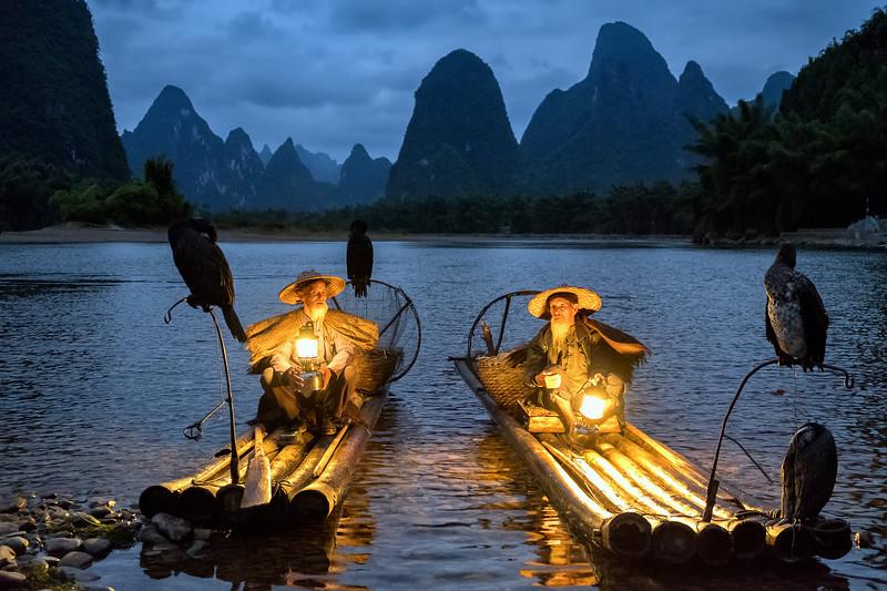 cormorant fishermans on the Li River
