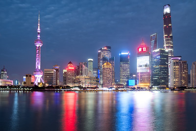 Skyline of Shanghai during Twilight