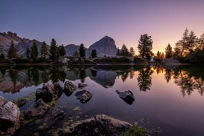 Sunrise at Lago di Limides