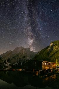 Milkyway over Lago di Braies