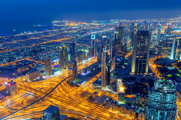 view to Sheikh Zayed Road