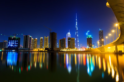 Burj Khalifa and the Business bay