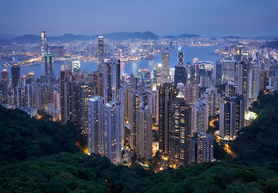 Hong  Kong Skyline during Blue Hour