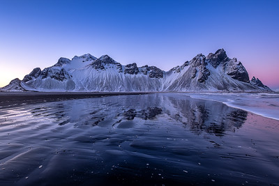 after Sunset at Vesturhorn