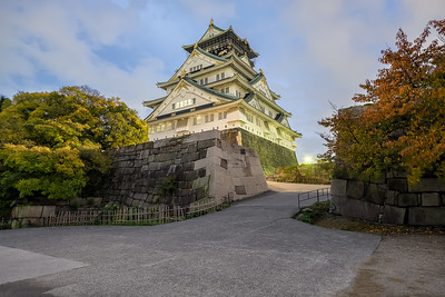 Osaka Castle during Blue Hour