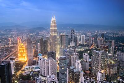 Twilight over Kuala Lumpur