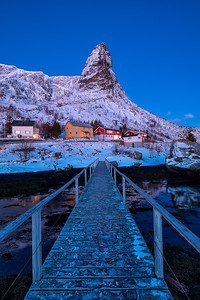 Reine during Blue Hour