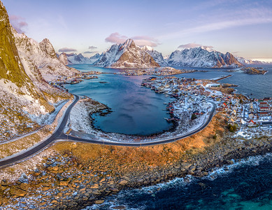 Aerial view of Reine