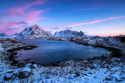 Reine during Sunrise