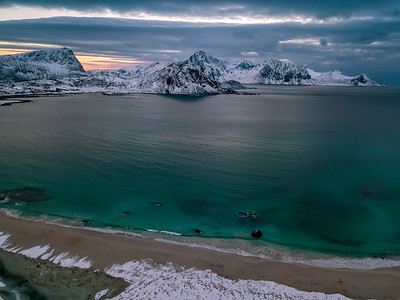 View over Haukland Beach