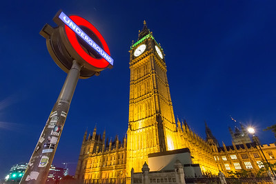Big Ben and Westminster Subway Station