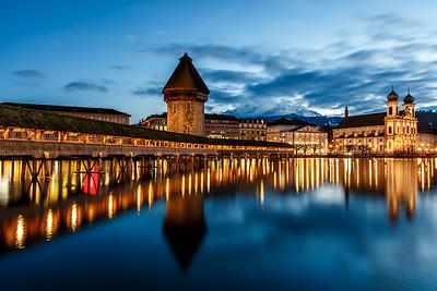 Lucerne after sunset