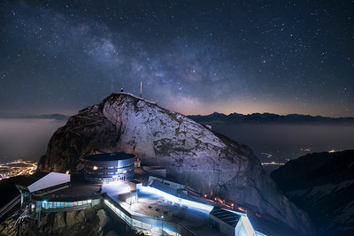 Milkyway over Mt. Pilatus