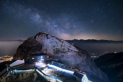 Milkyway over Mt. Pilatus