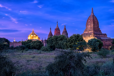 Twilight over Bagan