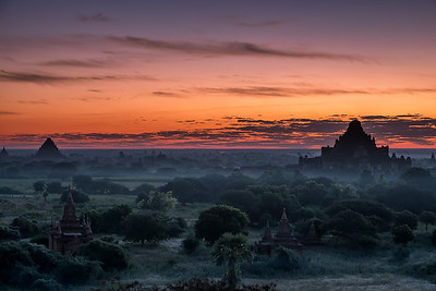 Sunrise over the Temple of  Bagan