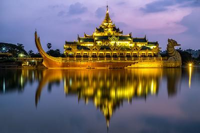 Karaweik Palace during Twilight