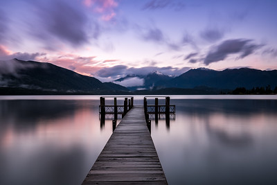 Sunrise at Lake Te Anau