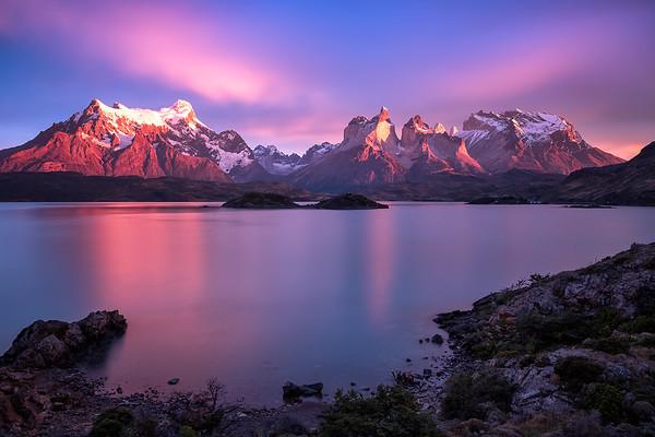 Amazing view to los Cuernos during Sunrise