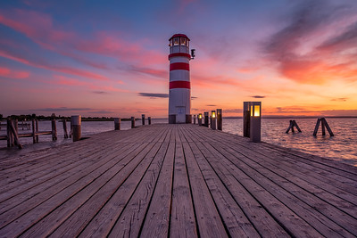 Lighthouse during amazing Sunset