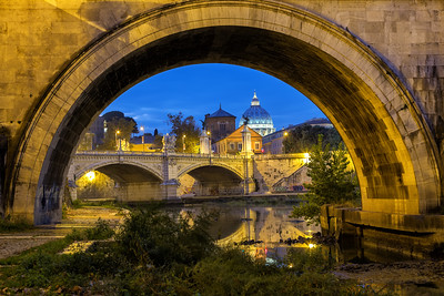 St. Peters Basilica under Ponte Sant Angelo