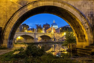 St. Peters Basilica under Ponte Sant Angelo