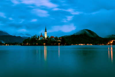 Blue Hour at Lake Bled