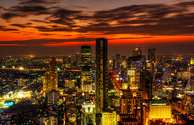 Sunset over Bangkok