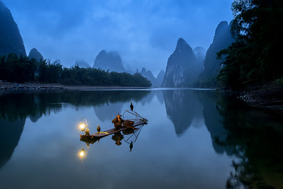 A cormorant fisherman on the Li River