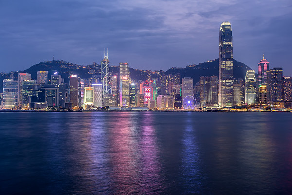 Skyline view Hong Kong