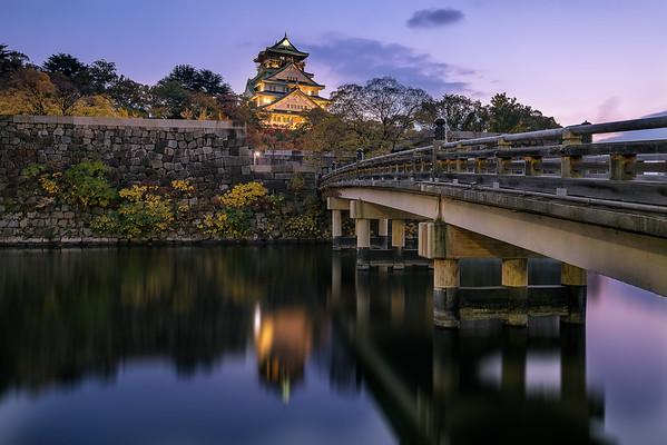 Osaka Castle during Twilight