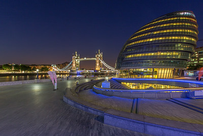 City Hall and Tower Bridge