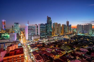 Skyline Makati in Manila