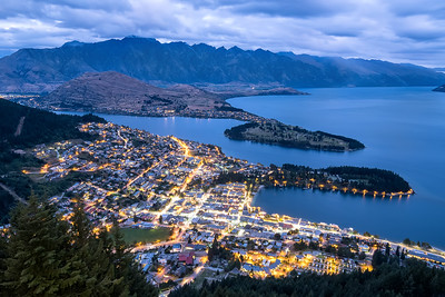 Twilight over Queenstown