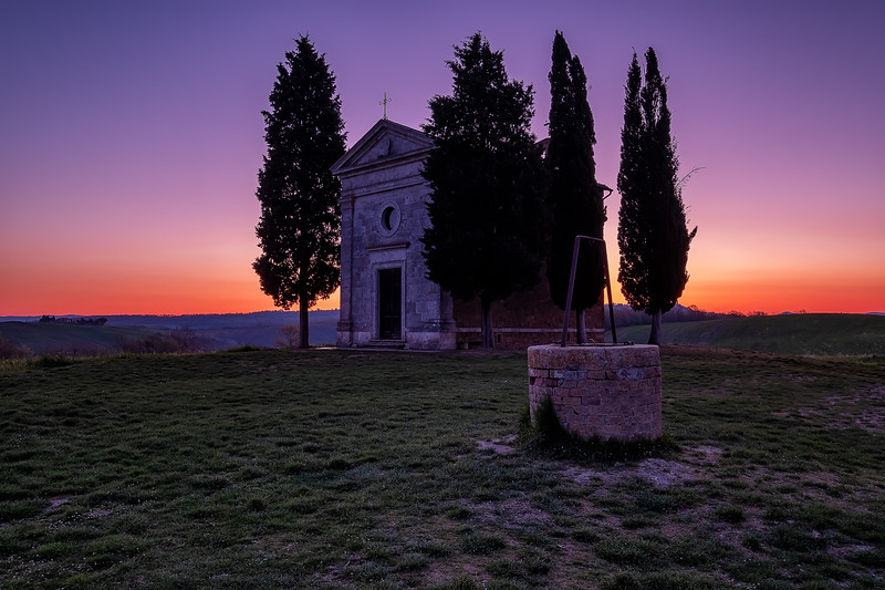 Morning at Cappella della Madonna di Vitaleta