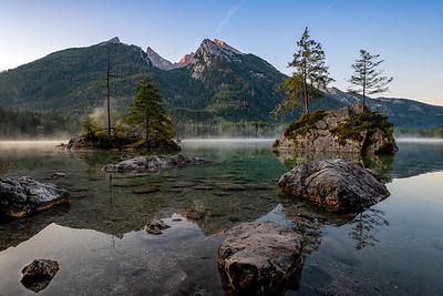 Hintersee in the morning